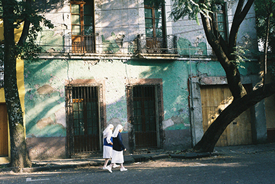 Analog photopraphy color wetprint Coyoacan