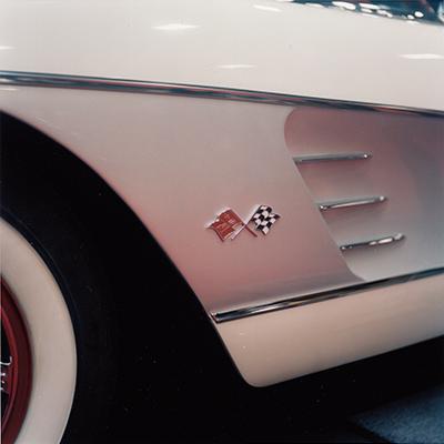 Analog photopraphy color wetprint corvette